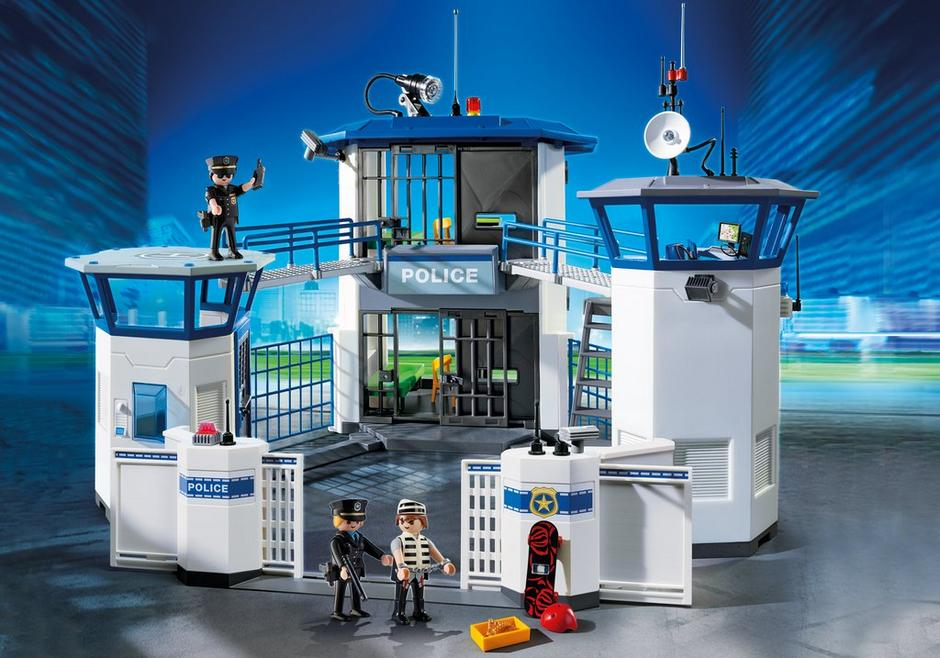 police headquarters with prison - Playmobile Police