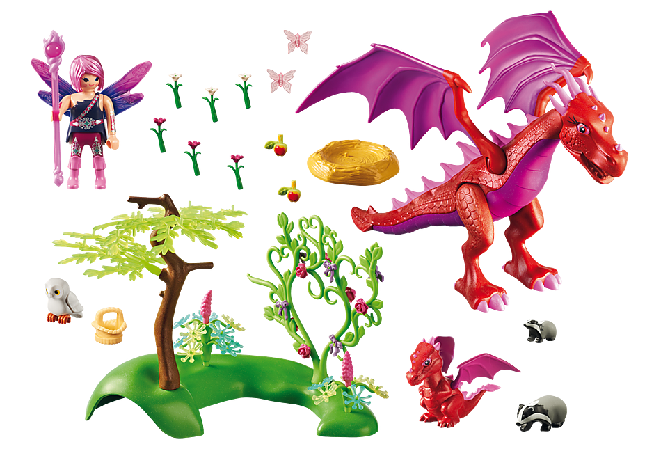 9134 Dragón con Bebé  detail image 4