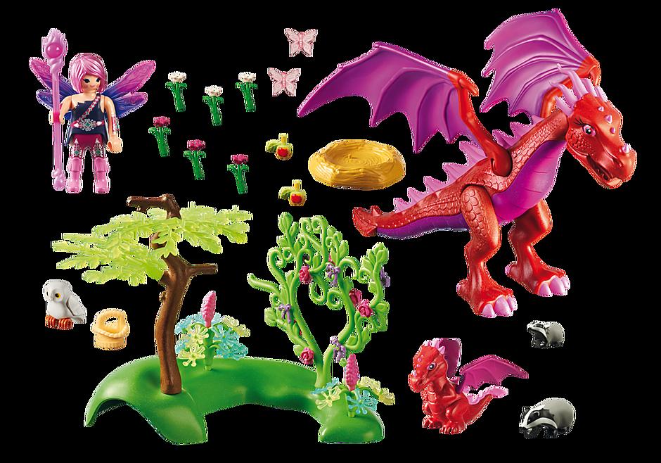 9134 Gardienne des fées avec dragons detail image 4