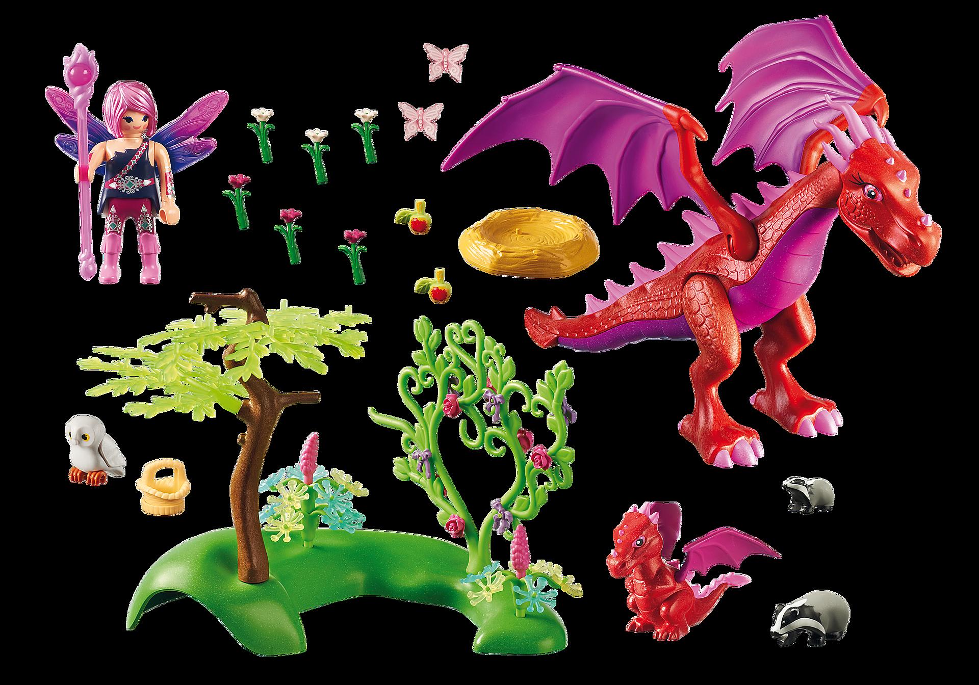 9134 Gardienne des fées avec dragons zoom image4