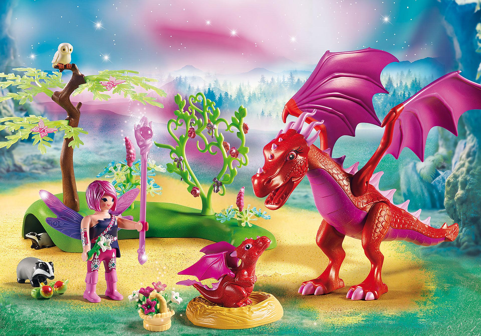 9134 Gardienne des fées avec dragons zoom image1