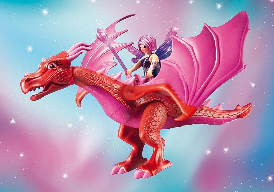 9134 Drakenhoeder met rode draken detail image 5