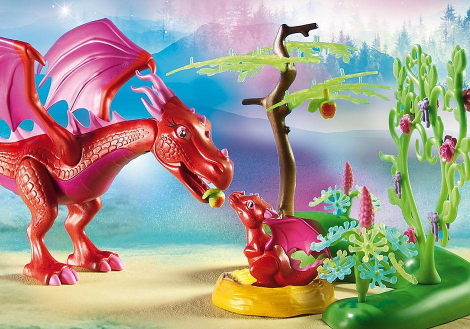 9134 Drakenhoeder met rode draken detail image 6