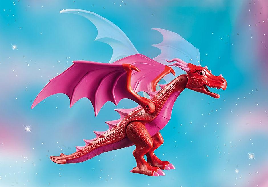 9134 Drakenhoeder met rode draken detail image 7
