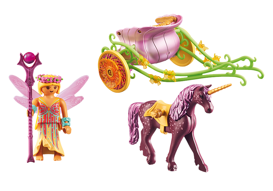 Fee Playmobil Coloriage Licorne.Fee Avec Carrosse Et Licorne 9136 Playmobil France