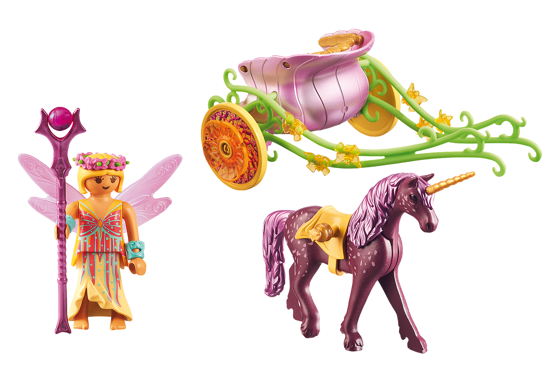 9136 Unicorn-Drawn Fairy Carriage zoom image4