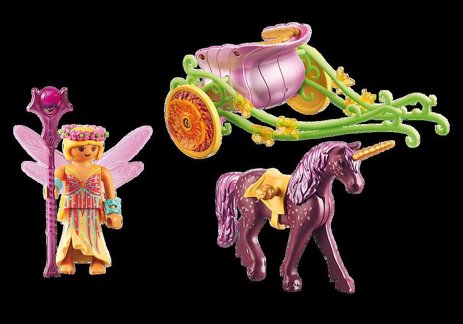 9136 Unicorn-Drawn Fairy Carriage detail image 4