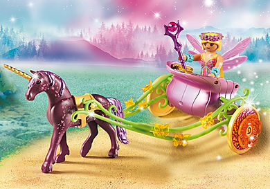 9136 Unicorn-Drawn Fairy Carriage