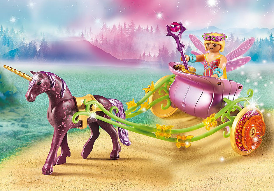 9136 Unicorn-Drawn Fairy Carriage detail image 1