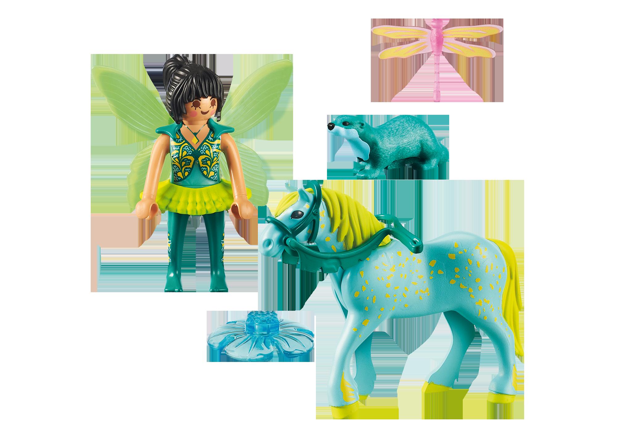 """http://media.playmobil.com/i/playmobil/9137_product_box_back/Wasserfee mit Pferd """"Aquarius"""""""