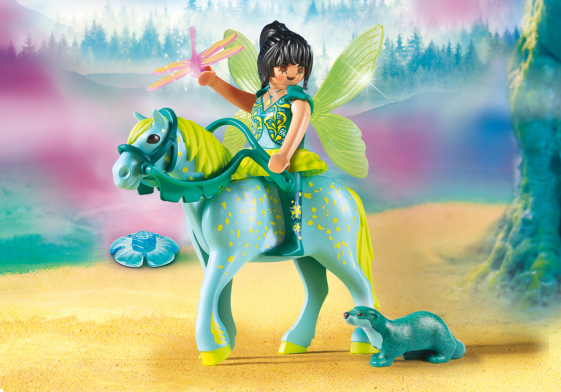 9137 Enchanted Fairy with Horse zoom image1
