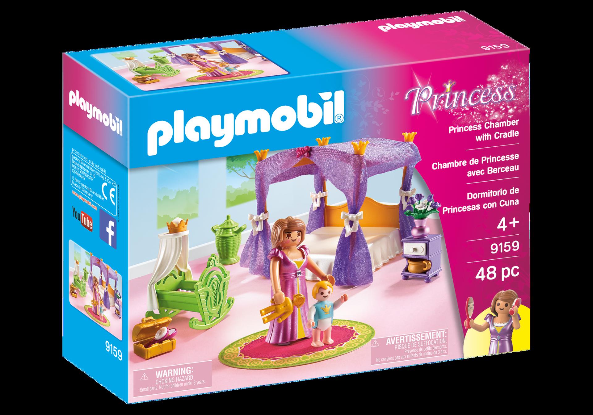 Chambre de princesse avec berceau 9159 playmobil canada for Playmobil chambre princesse