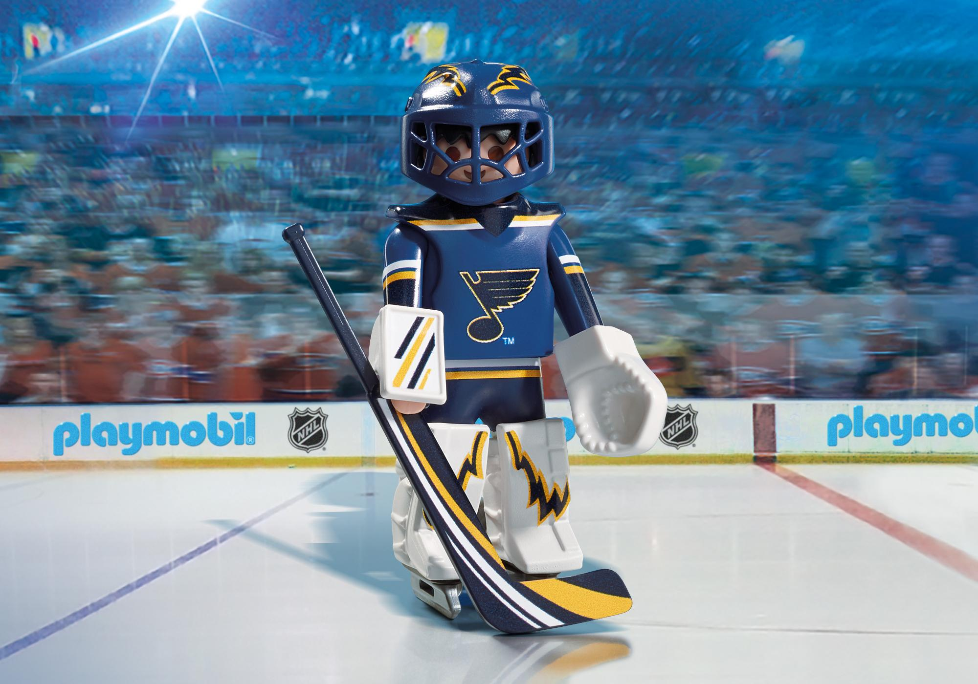graphic about St Louis Blues Printable Schedule named NHL® St. Louis Blues® Goalie - 9183 - PLAYMOBIL® United states