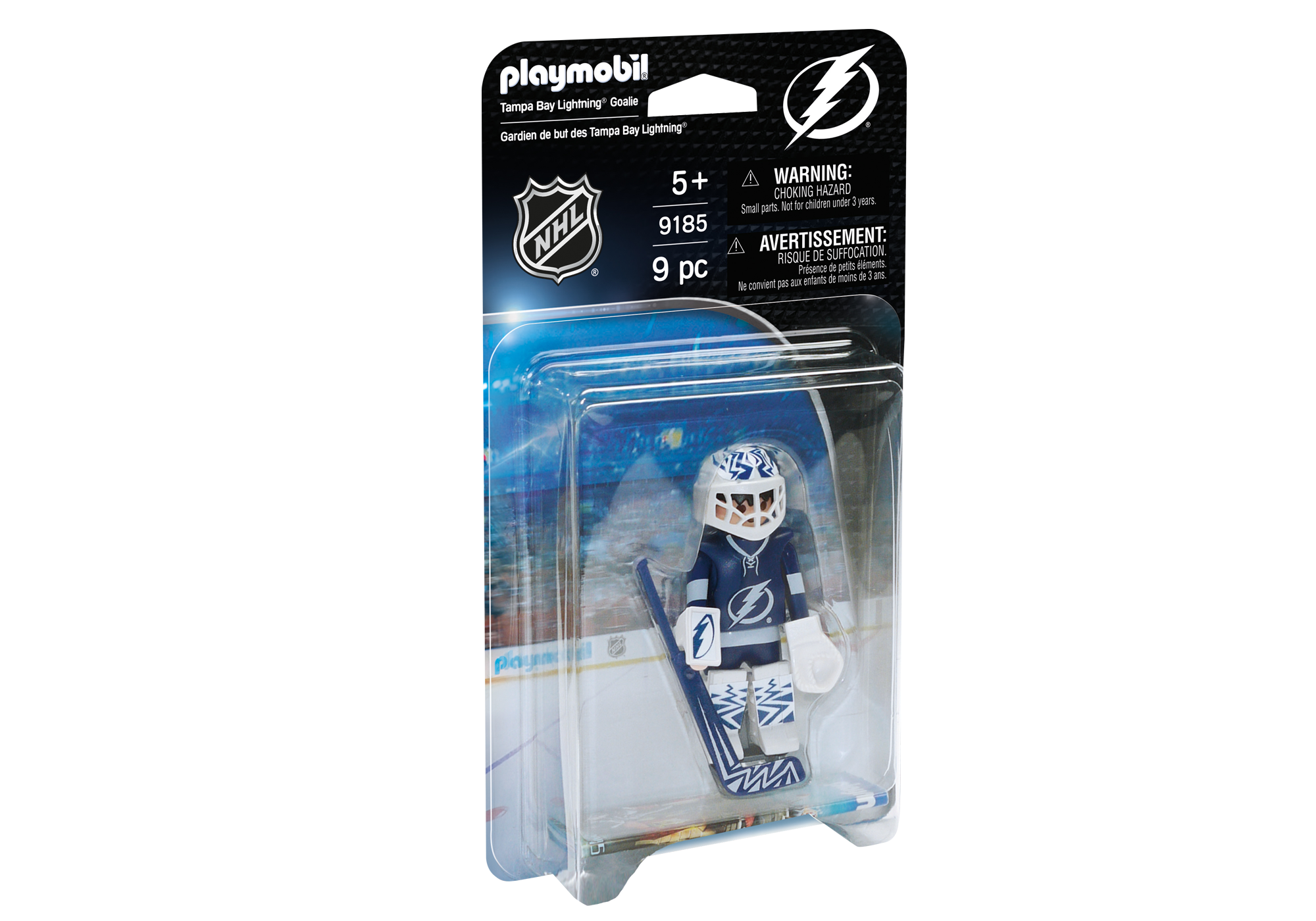 photo about Tampa Bay Lightning Printable Schedule called NHL® Tampa Bay Lightning® Goalie - 9185 - PLAYMOBIL® United states