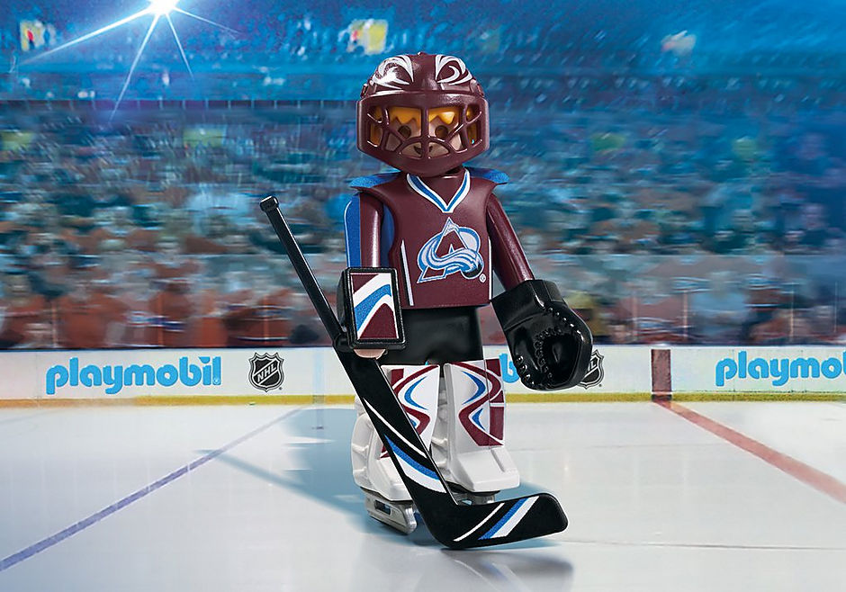 timeless design ebc3f 1a4a6 NHL® Colorado Avalanche® Goalie - 9189 - PLAYMOBIL® USA