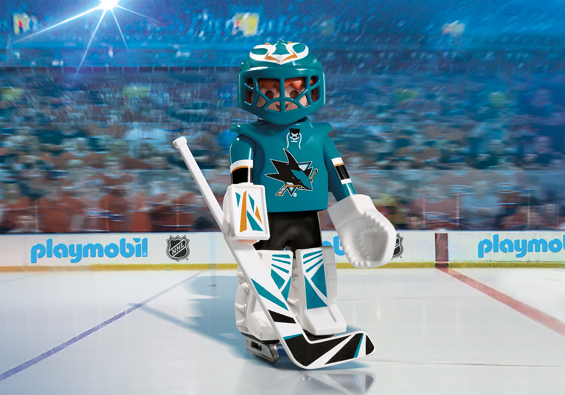 9197 NHL® San Jose Sharks® Goalie zoom image1