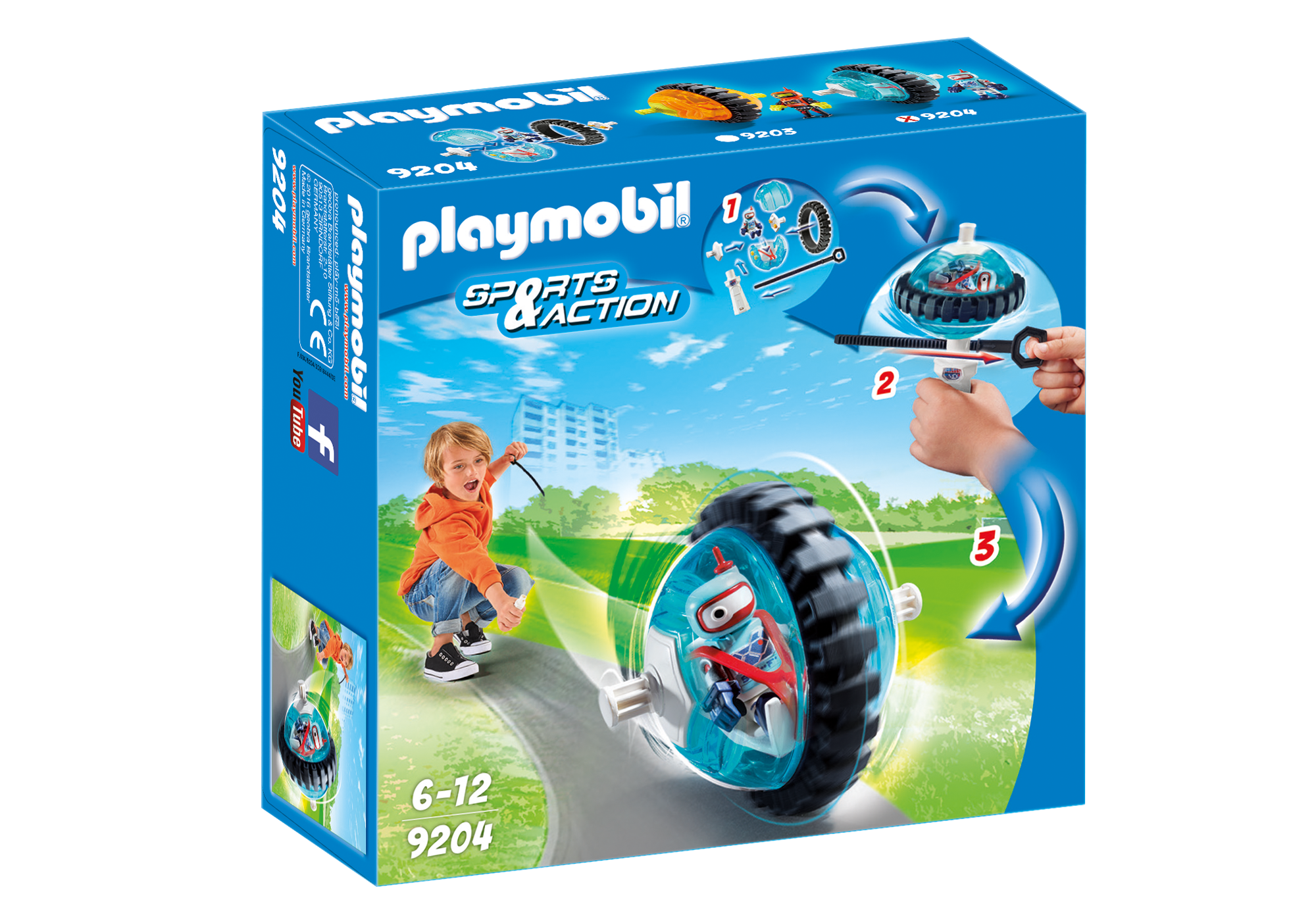 """http://media.playmobil.com/i/playmobil/9204_product_box_front/Speed Roller """"Blue"""""""