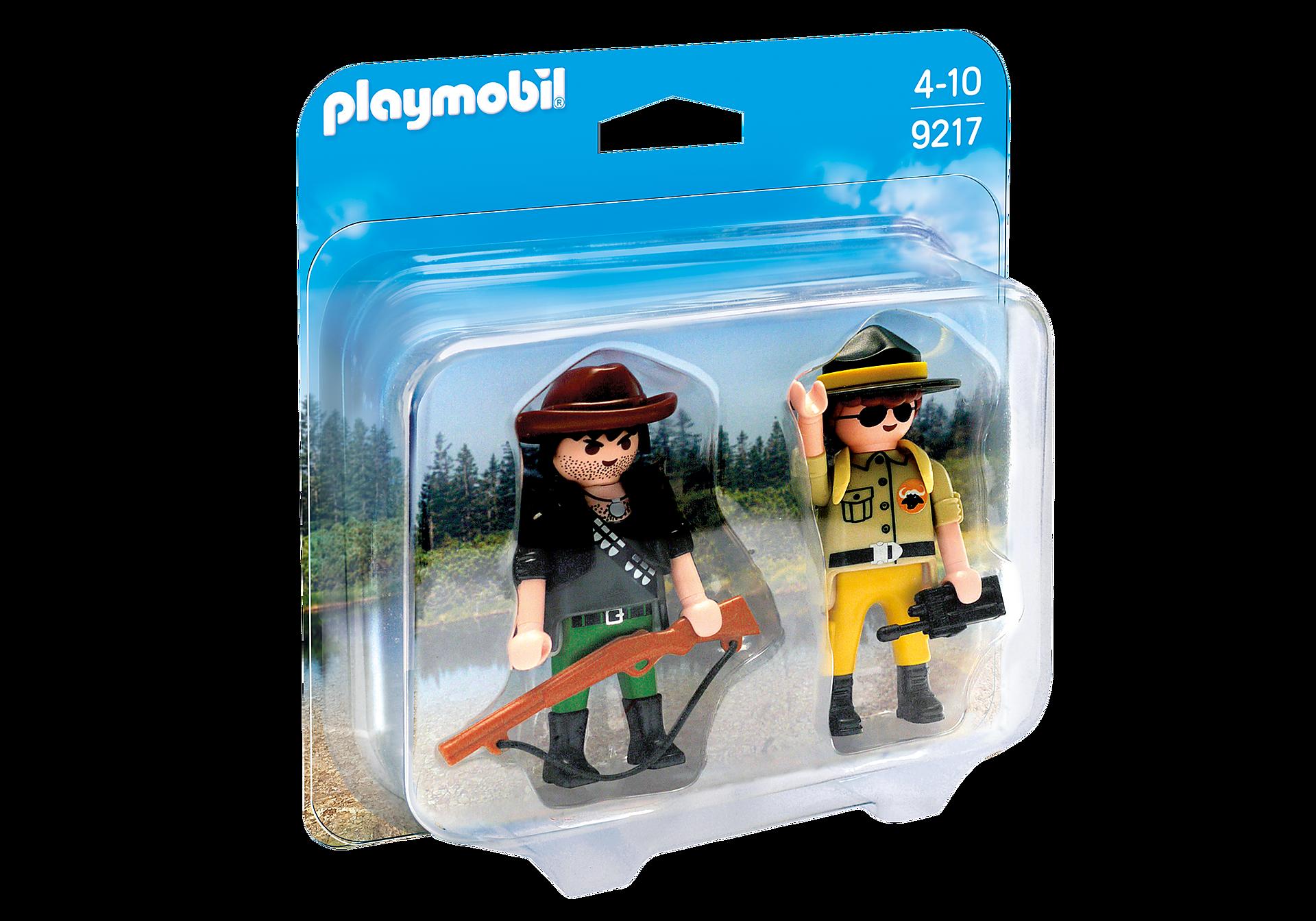 http://media.playmobil.com/i/playmobil/9217_product_box_front/Duo Pack Ranger y Cazador Furtivo