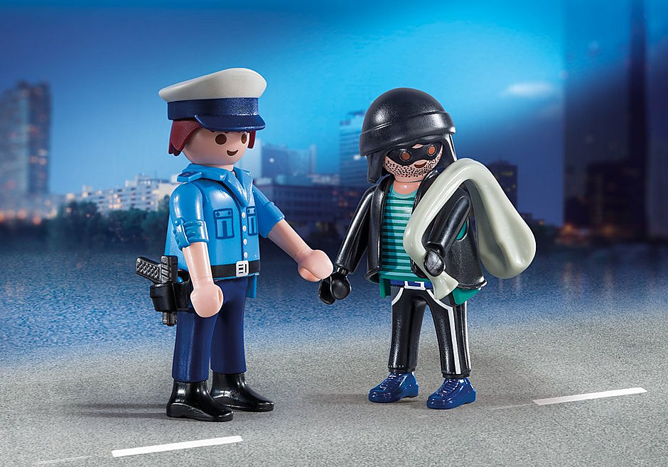 9218 Policeman and Burglar detail image 1