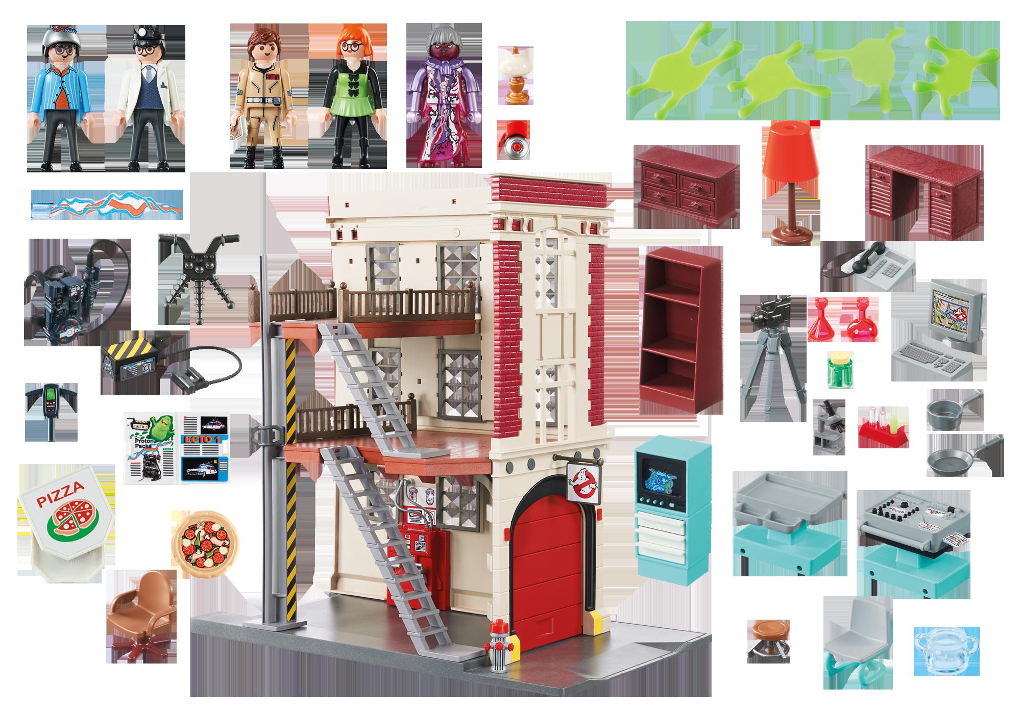 http://media.playmobil.com/i/playmobil/9219_product_box_back/Cuartel Parque de Bomberos Ghostbusters™