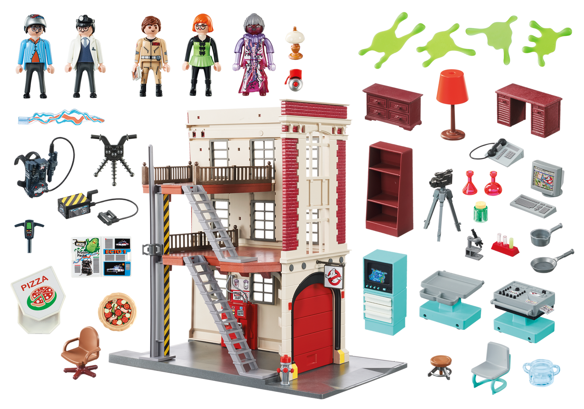 quartier g n ral ghostbusters 9219 playmobil france. Black Bedroom Furniture Sets. Home Design Ideas