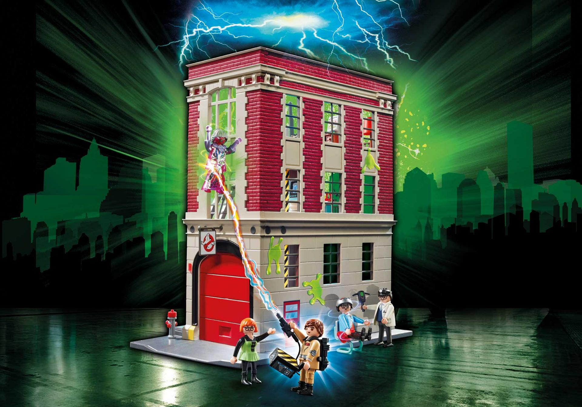 ghostbusters firehouse 9219 playmobil northern. Black Bedroom Furniture Sets. Home Design Ideas