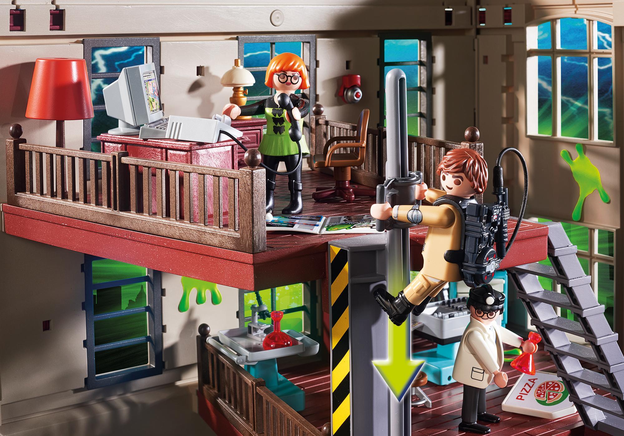 http://media.playmobil.com/i/playmobil/9219_product_extra3/Quartel de Bombeiros Ghostbusters™