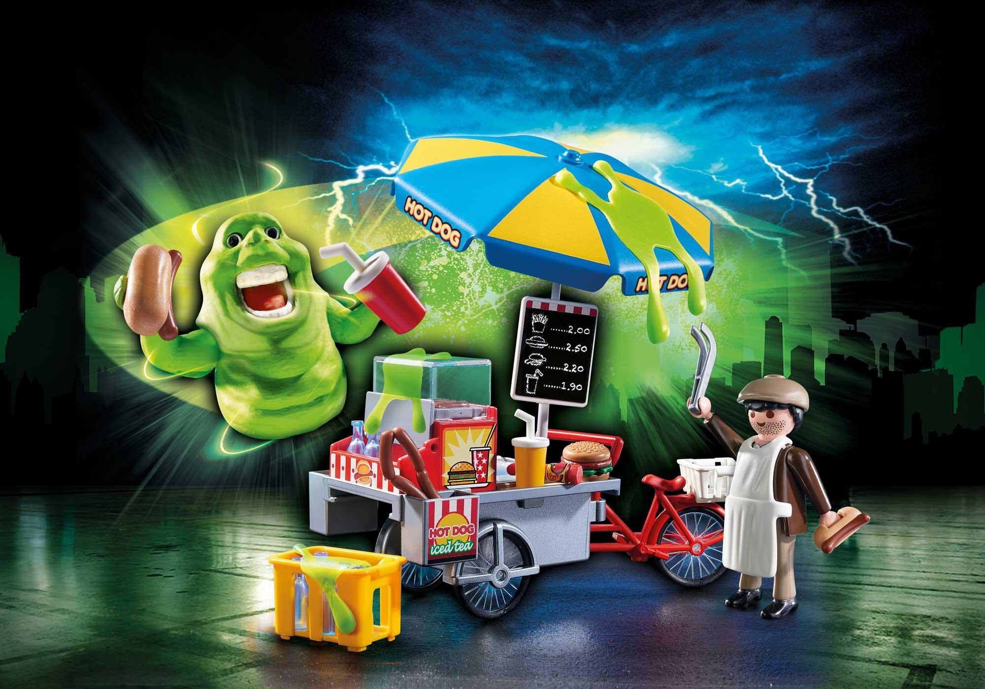 http://media.playmobil.com/i/playmobil/9222_product_detail/Slimer med hotdog-pølsevogn