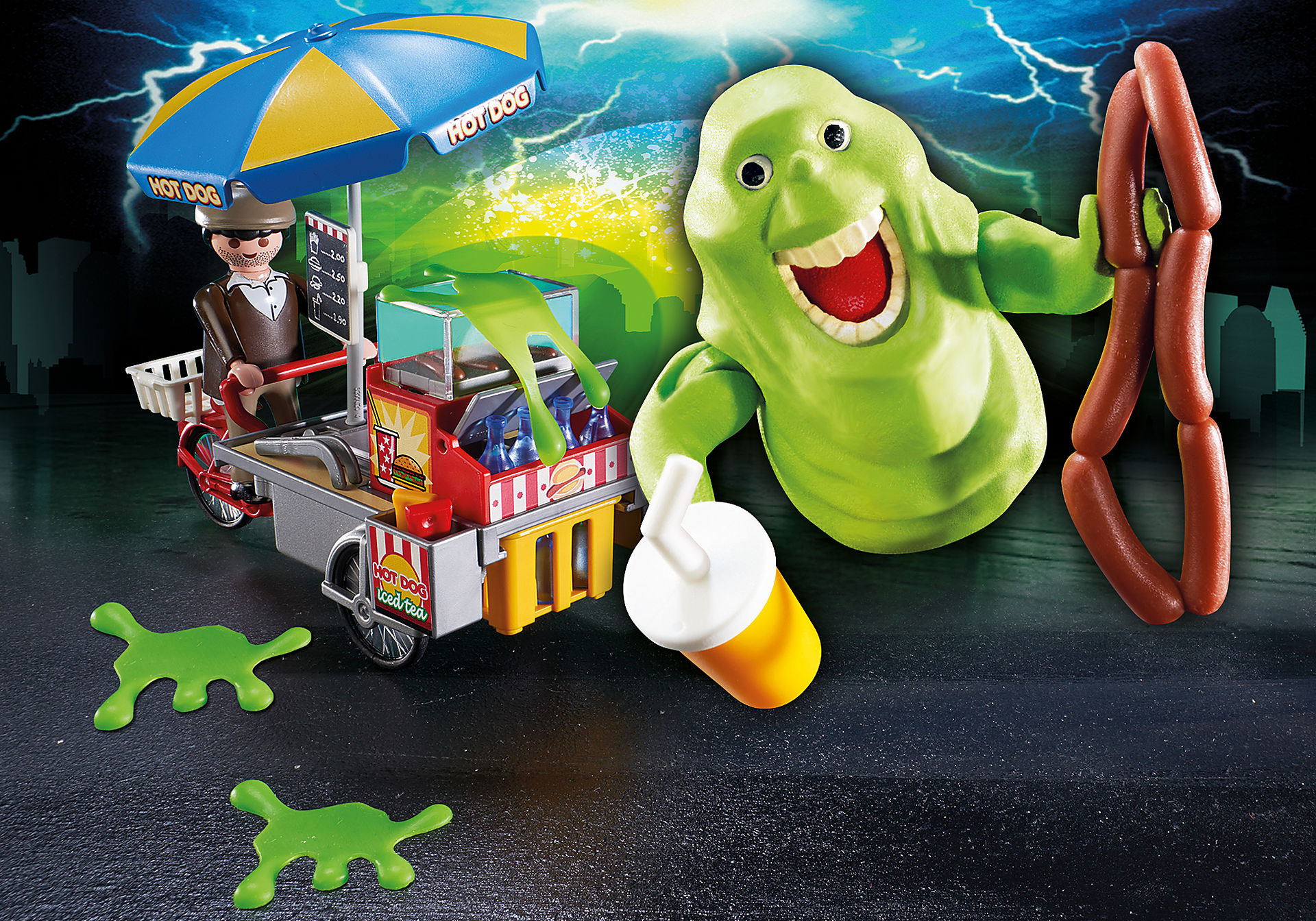 http://media.playmobil.com/i/playmobil/9222_product_extra1/Slimer med hotdog-pølsevogn