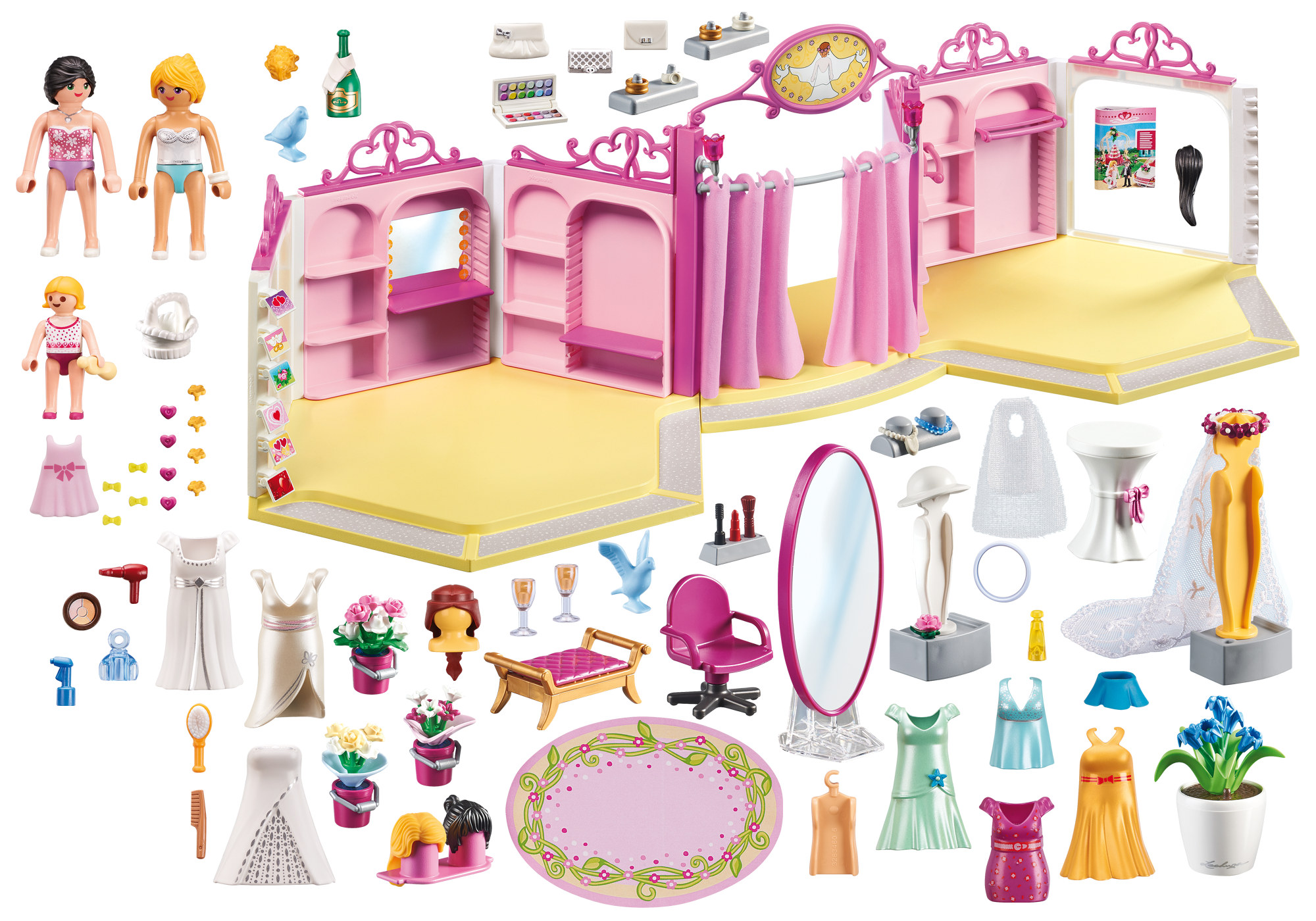 http://media.playmobil.com/i/playmobil/9226_product_box_back/Κατάστημα νυφικών με σαλόνι ομορφιάς