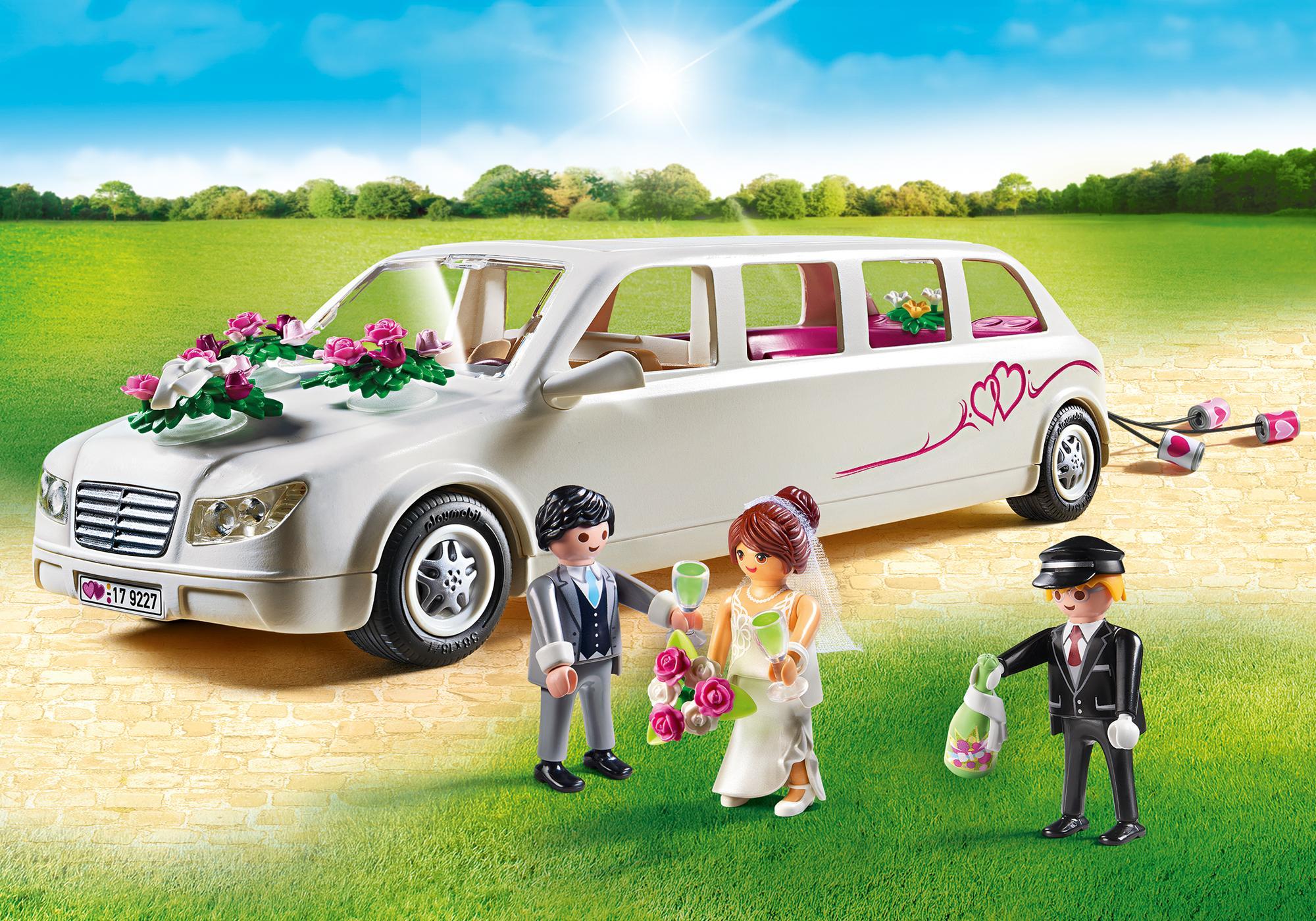 9227_product_detail/Limousine avec couple de mariés