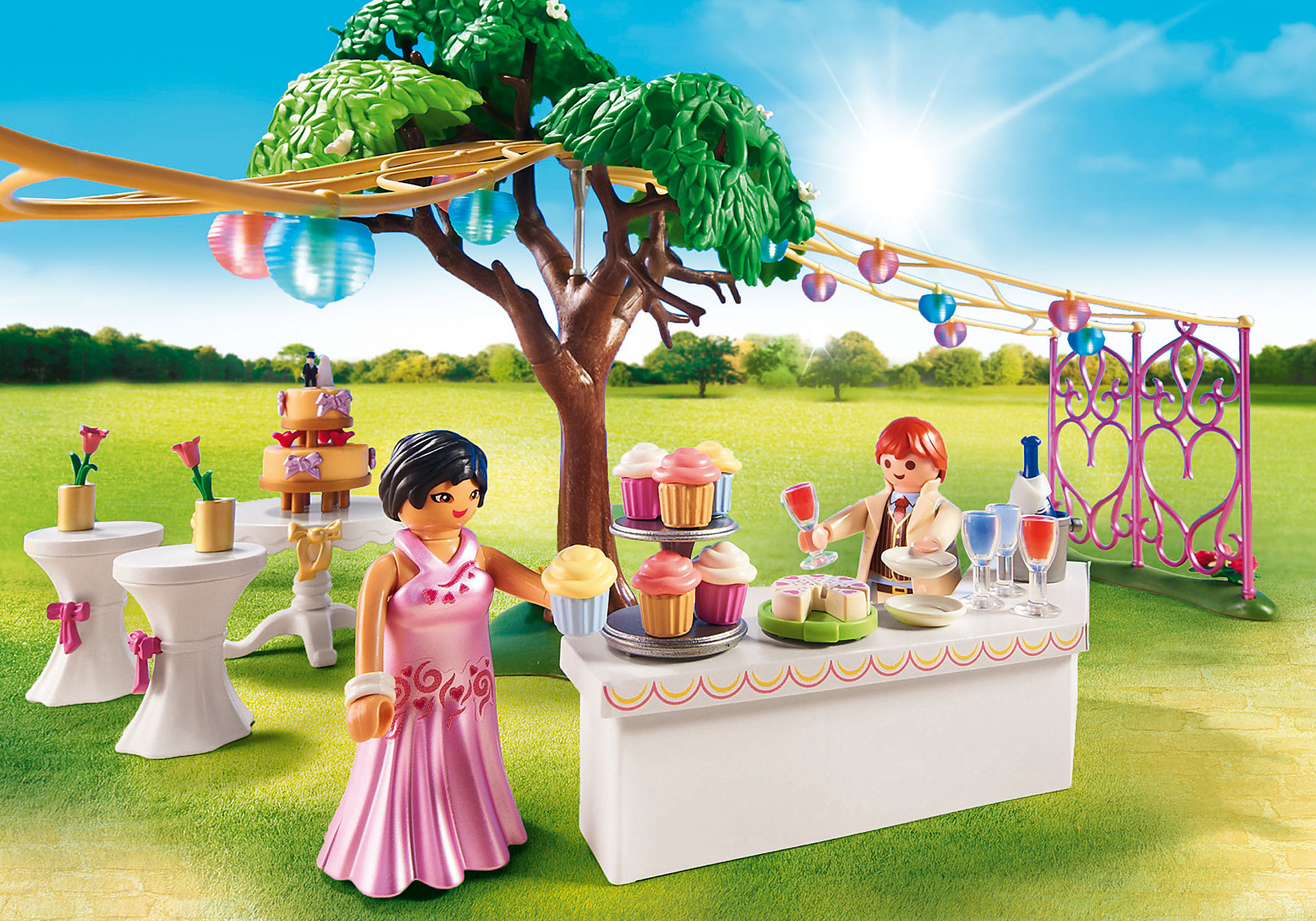 http://media.playmobil.com/i/playmobil/9228_product_extra1/Banquete do Casamento