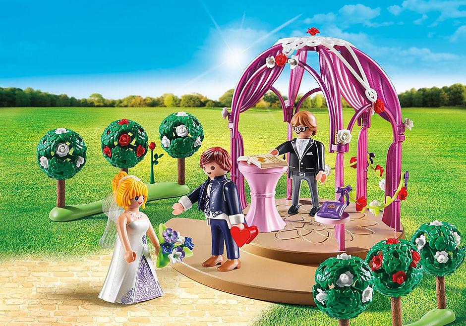 9229 Bruidspaviljoen met bruidspaar detail image 1