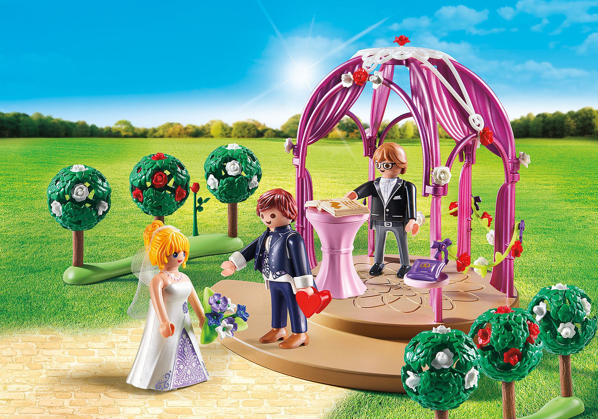 9229 Hochzeitspavillon mit Brautpaar zoom image1