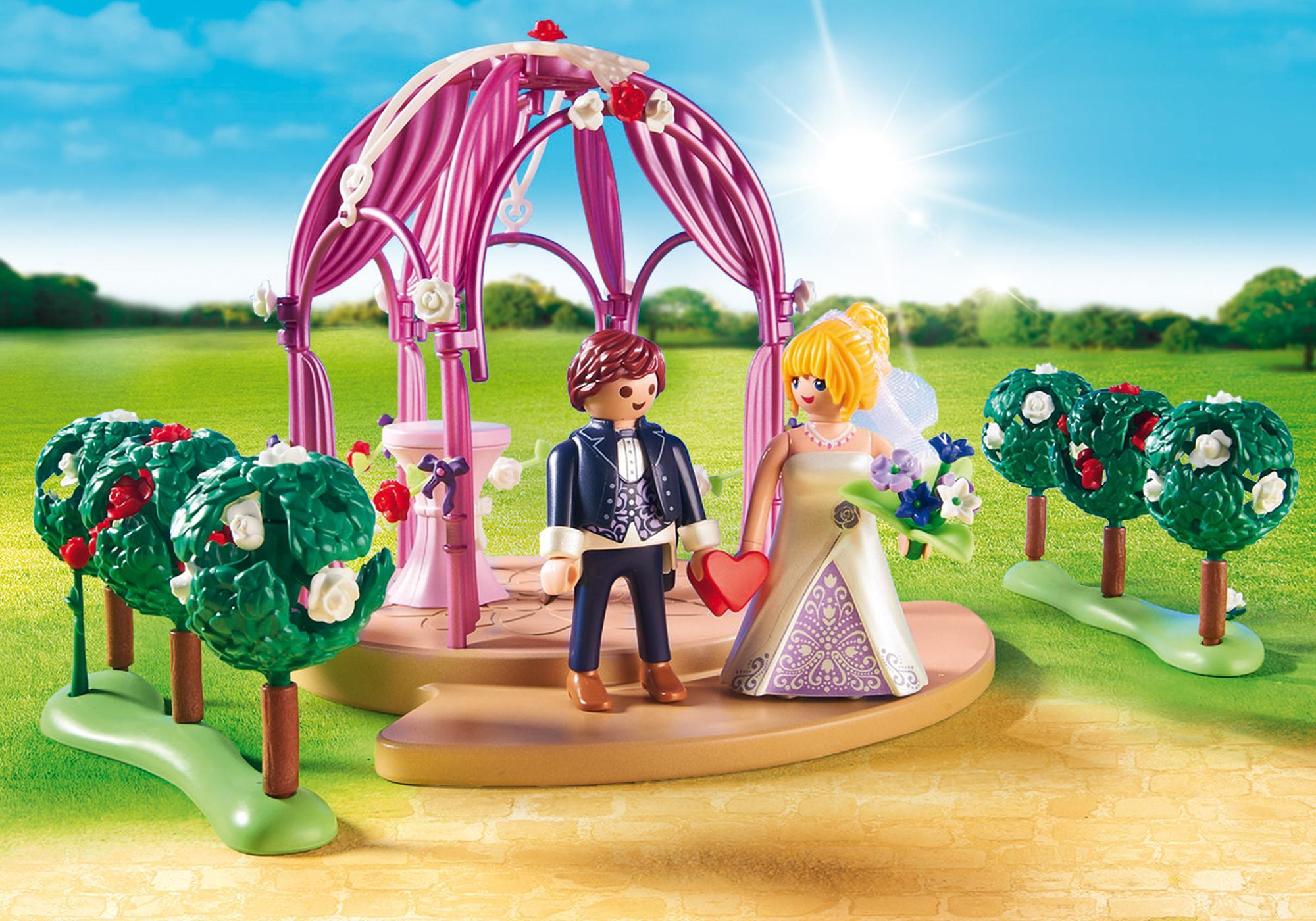 http://media.playmobil.com/i/playmobil/9229_product_extra1/Pawilon ślubny z nowożeńcami