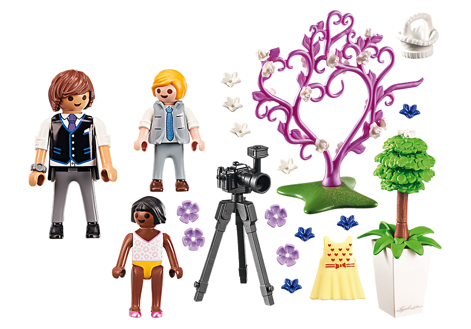 http://media.playmobil.com/i/playmobil/9230_product_box_back/Enfants d'honneur avec photographe