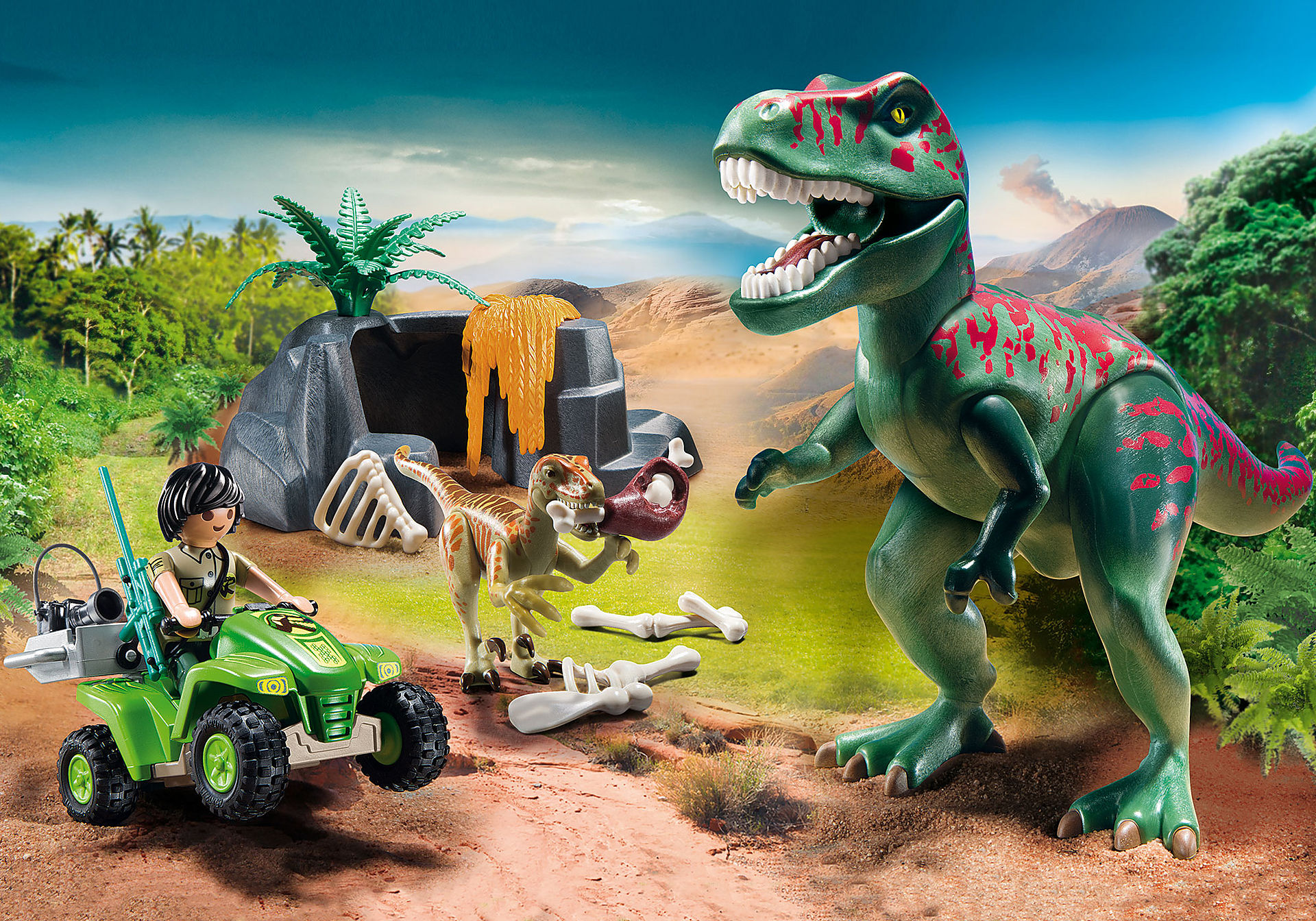 http://media.playmobil.com/i/playmobil/9231_product_detail/Tirannosauro Rex con esploratore in quad