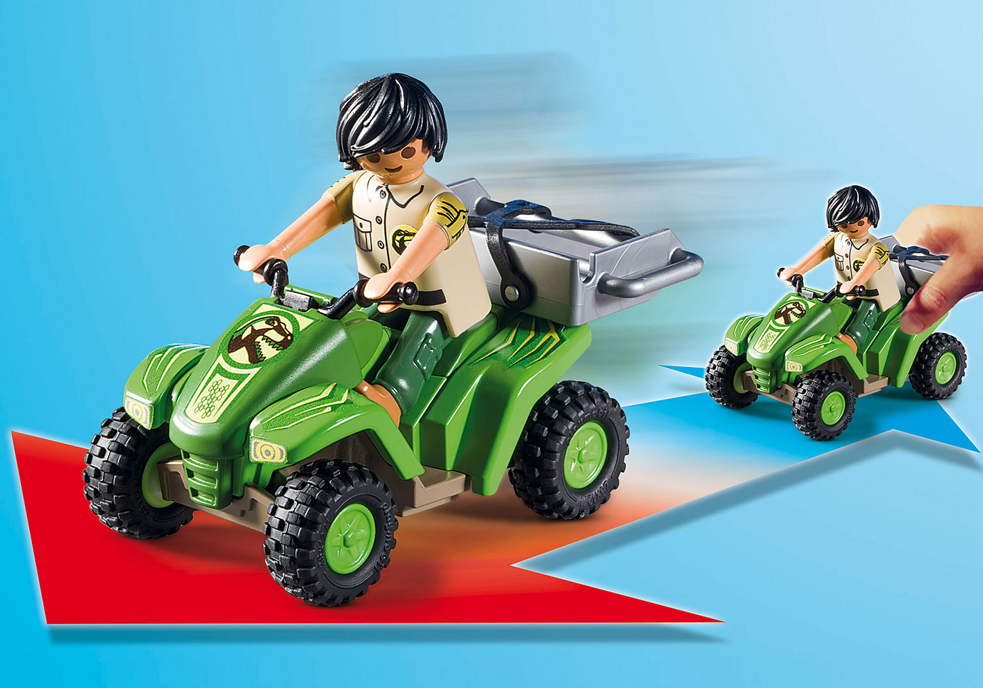 http://media.playmobil.com/i/playmobil/9231_product_extra1/Tirannosauro Rex con esploratore in quad