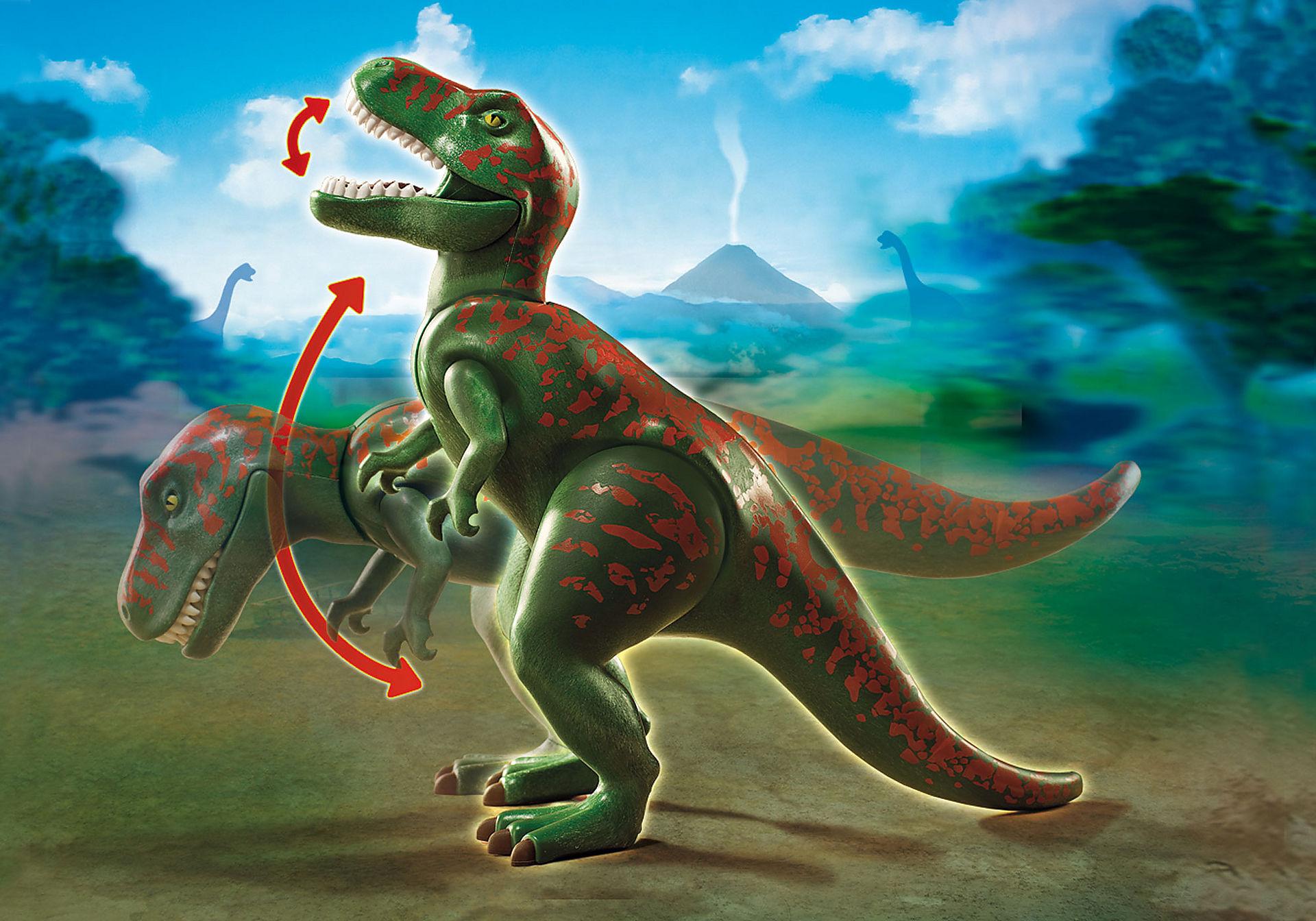 http://media.playmobil.com/i/playmobil/9231_product_extra2/Tirannosauro Rex con esploratore in quad