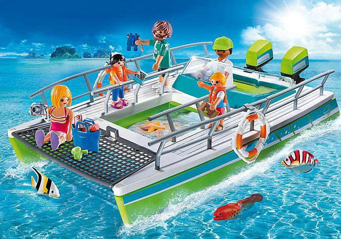 9233 Glasbodenboot mit Unterwassermotor