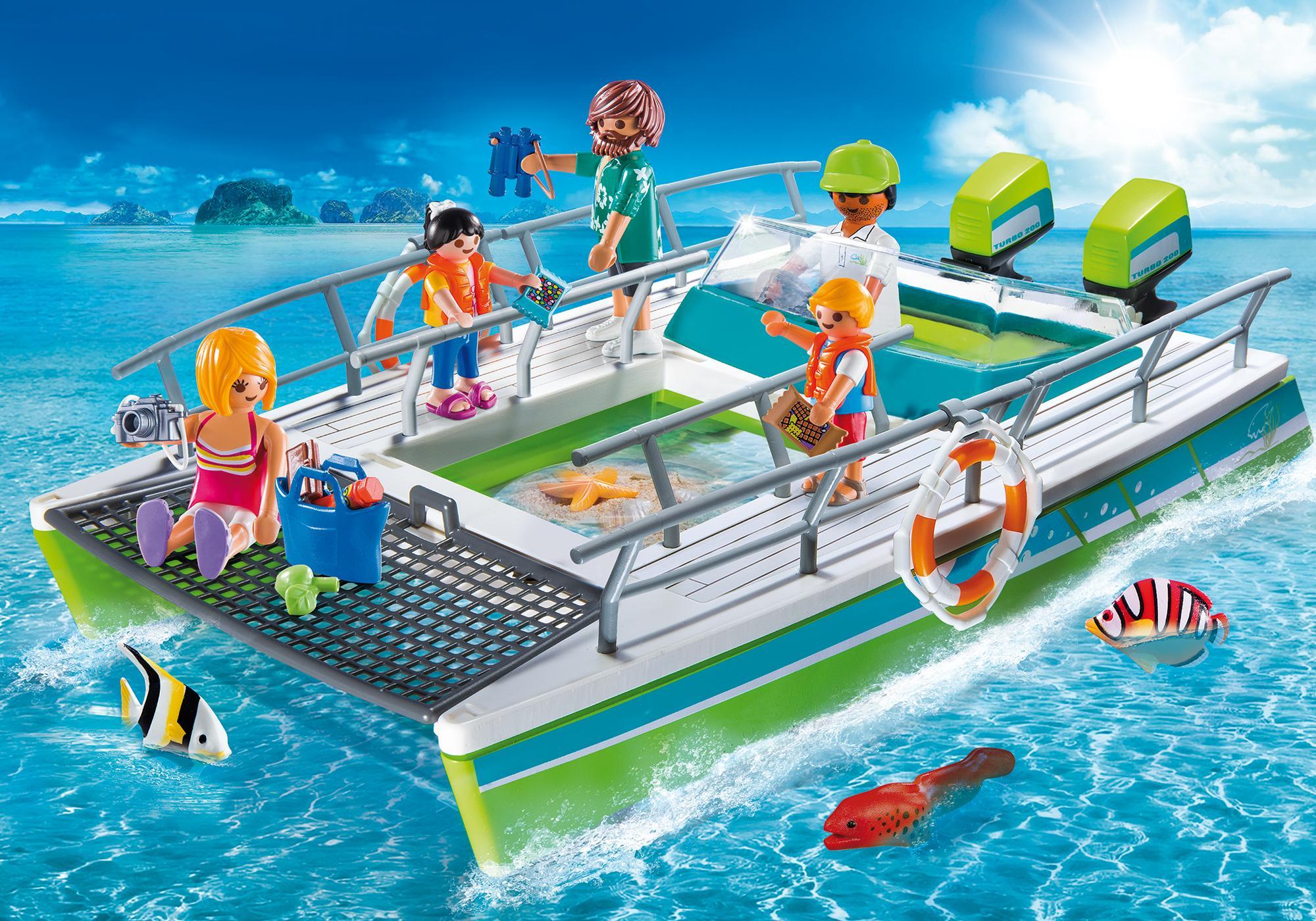 Glasbodenboot Mit Unterwassermotor 9233 Playmobil