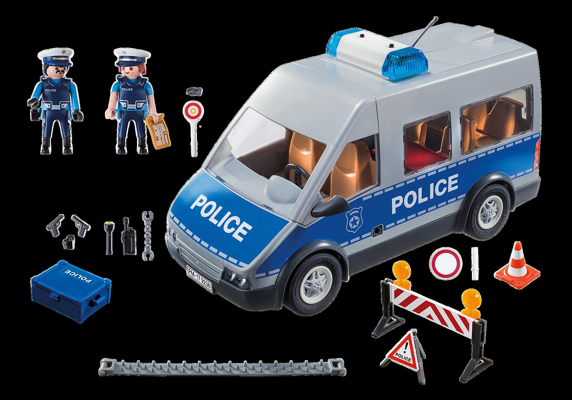 http://media.playmobil.com/i/playmobil/9236_product_box_back/Fourgon de policiers avec matériel de barrage