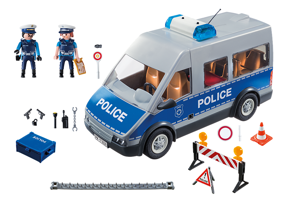 http://media.playmobil.com/i/playmobil/9236_product_box_back/Polizeibus mit Straßensperre