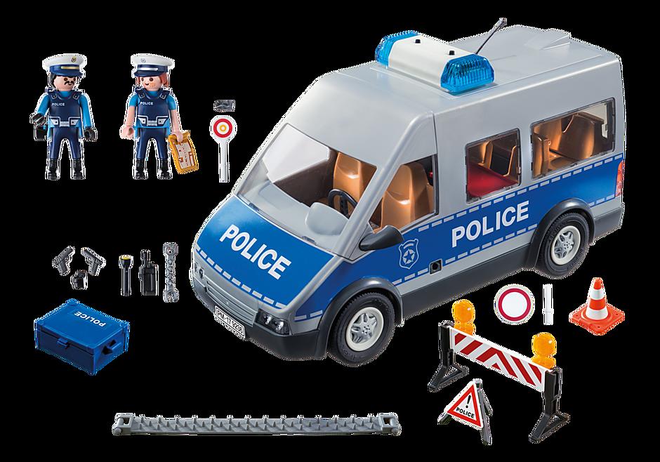 http://media.playmobil.com/i/playmobil/9236_product_box_back/Polizeibus mit Straßensperre