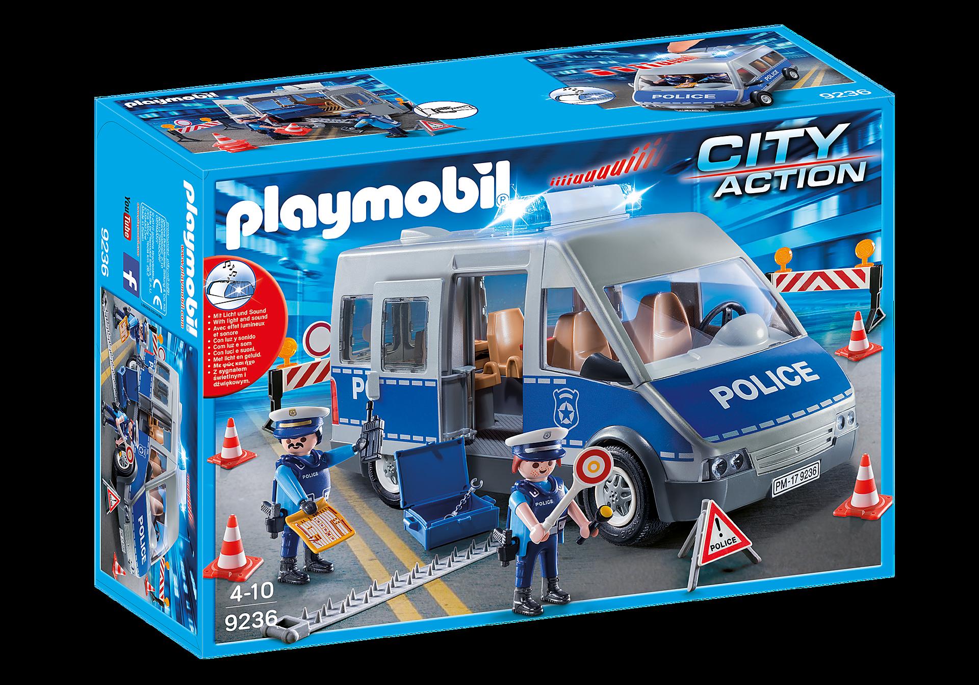 http://media.playmobil.com/i/playmobil/9236_product_box_front/Fourgon de policiers avec matériel de barrage