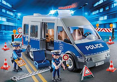 9236_product_detail/Polizeibus mit Straßensperre