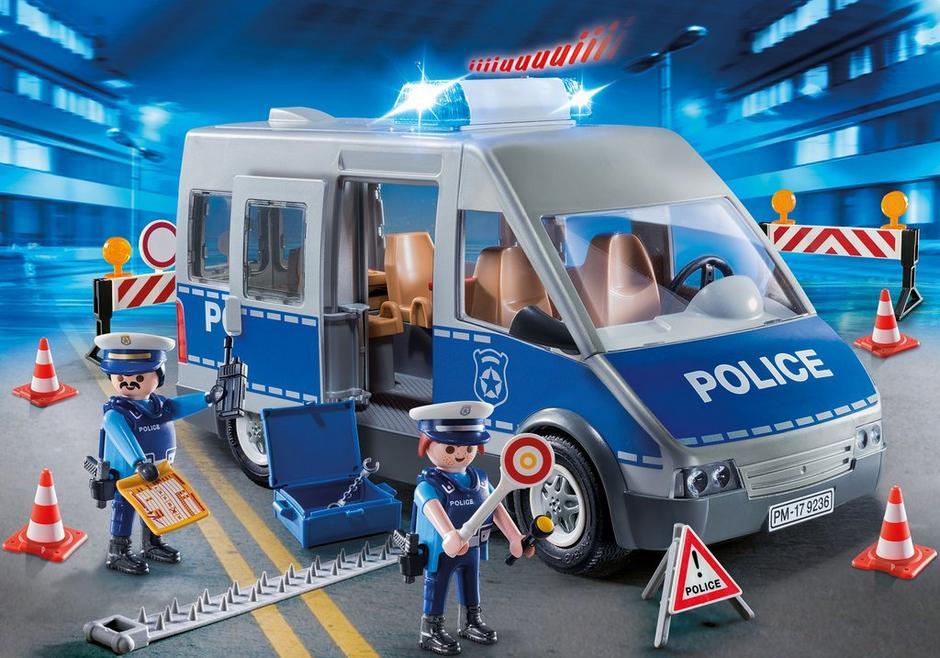 Policemen with Van