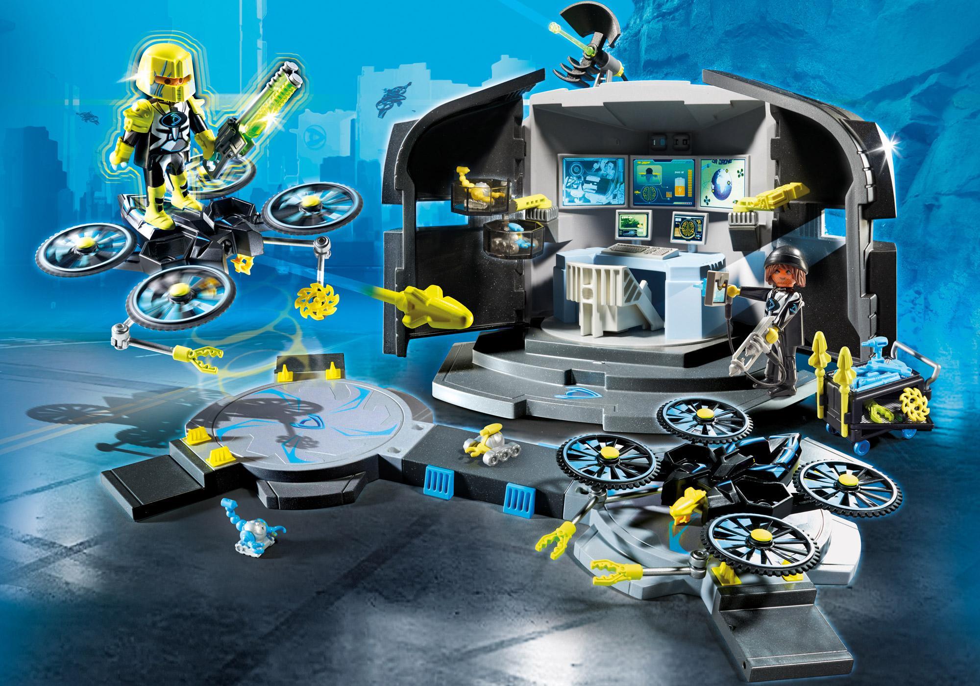http://media.playmobil.com/i/playmobil/9250_product_detail/Centro de Mando del Dr.Drone