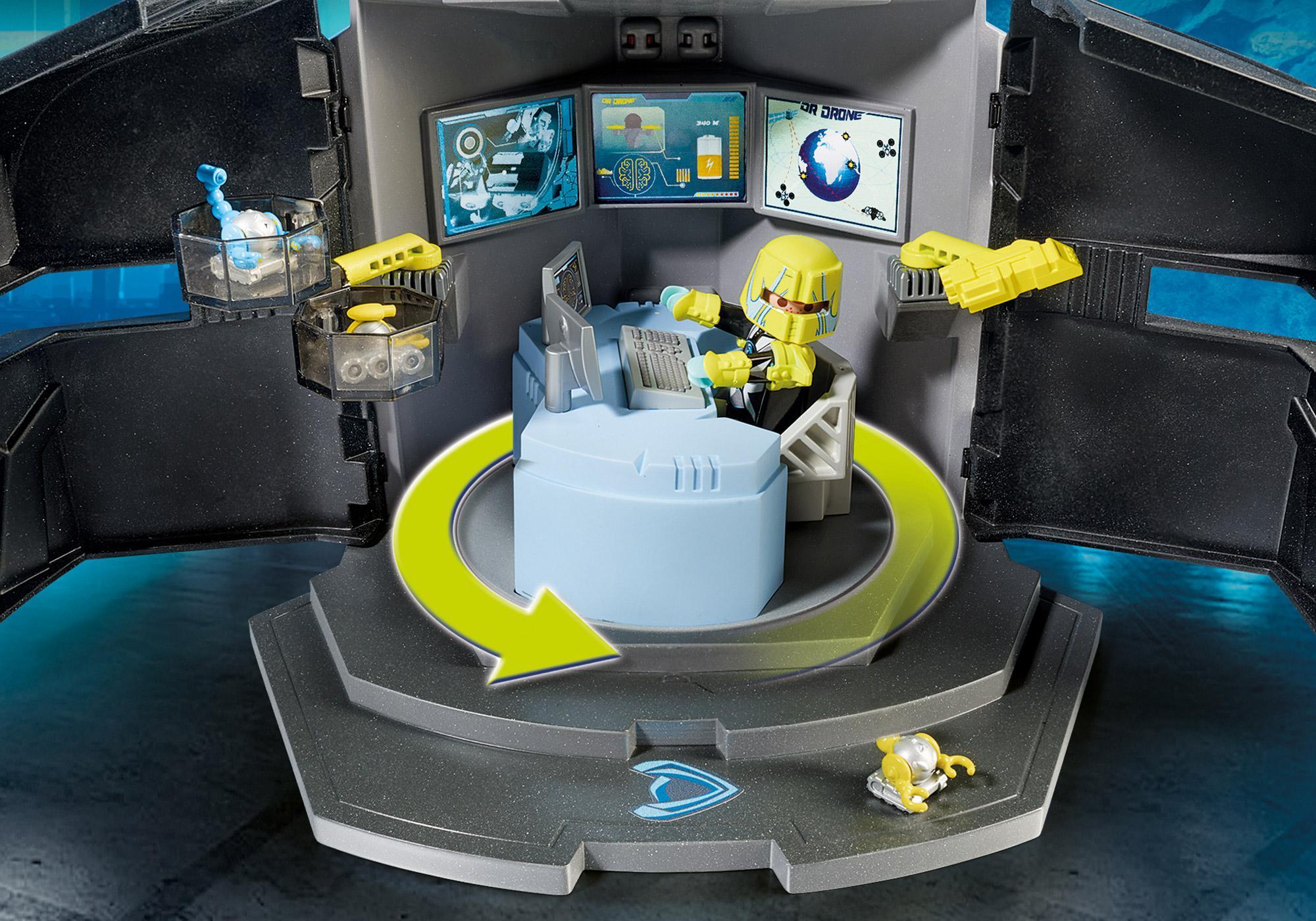 http://media.playmobil.com/i/playmobil/9250_product_extra1/Centre de commandement du Dr. Drone