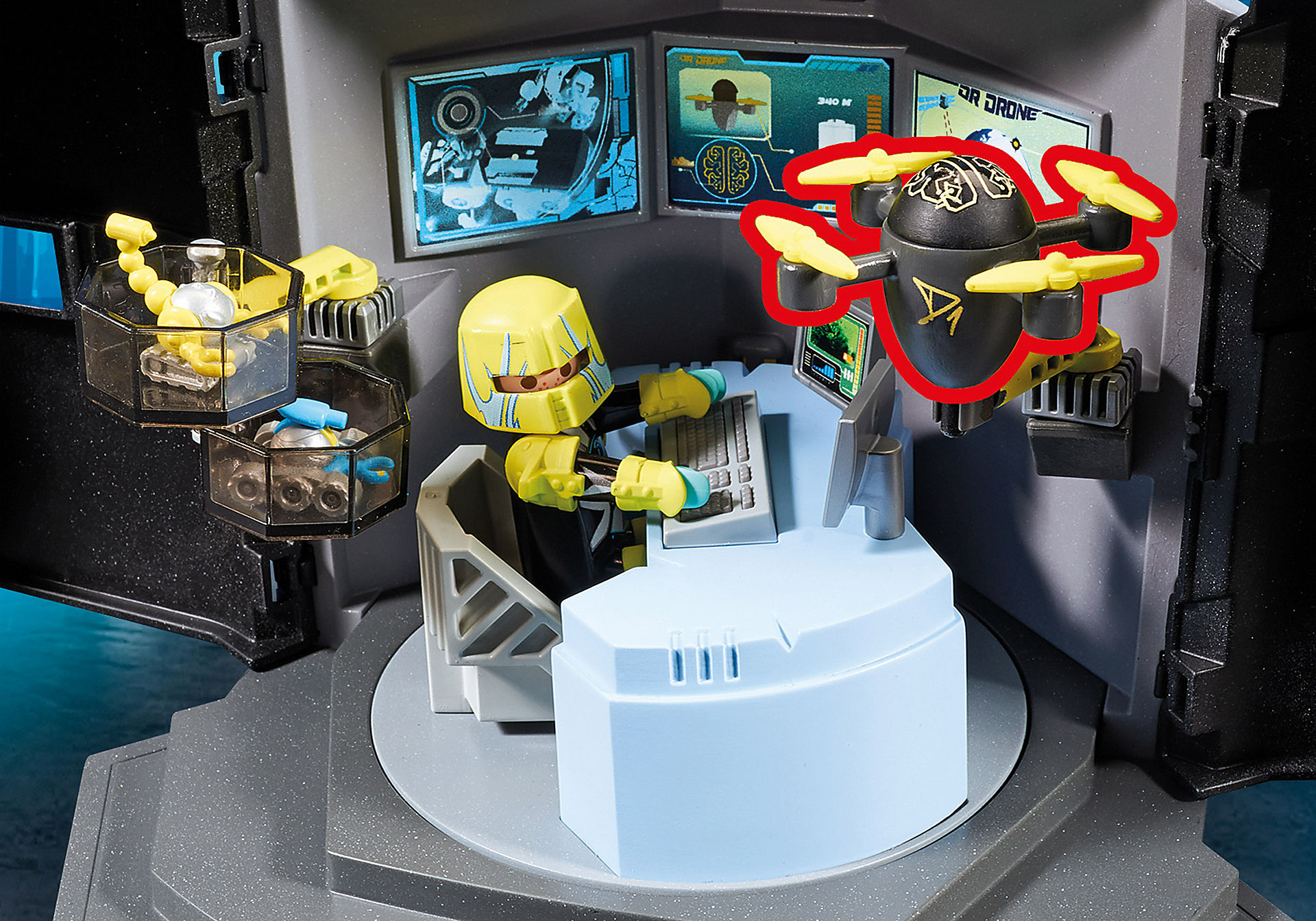 http://media.playmobil.com/i/playmobil/9250_product_extra2/Dr. Drone's Command Center